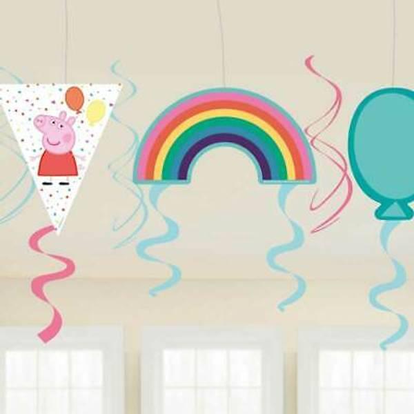 Bilde av Peppa Gris Ballong Party Swirls
