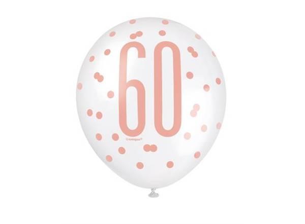 Bilde av Rosegull 60 År Ballonger
