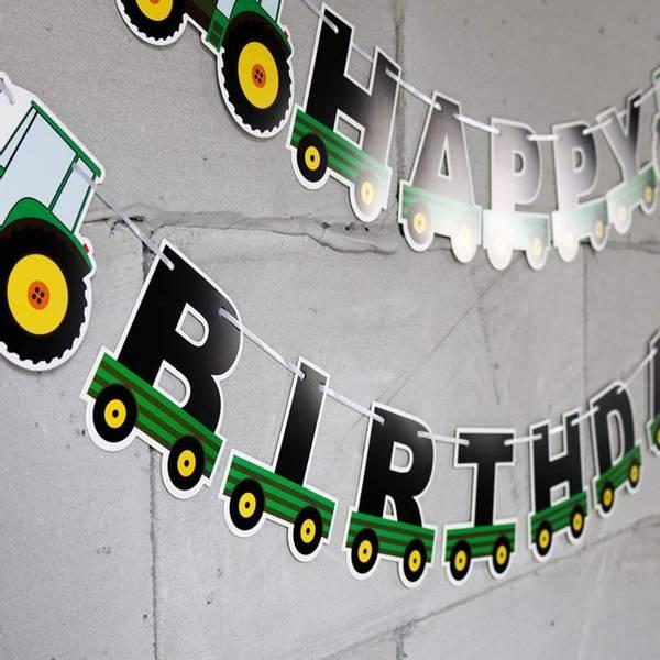 Bilde av Traktor 2, Happy Birthday, Banner