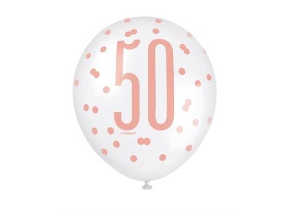 Bilde av Rosegull 50 År Ballonger
