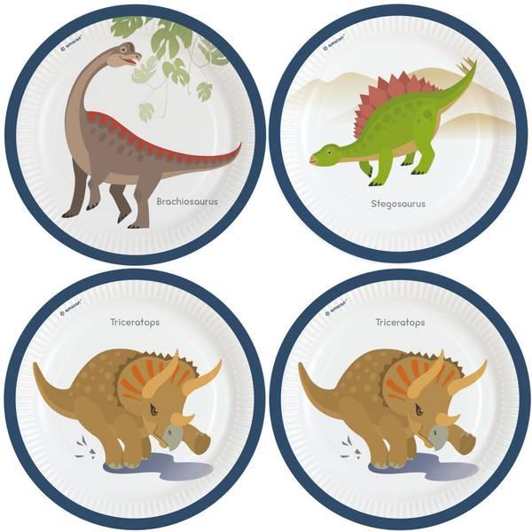 Bilde av Dinosaur Tallerker 2, 8 stk