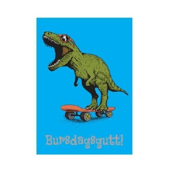 Bilde av Bursdagskort Dinosaur