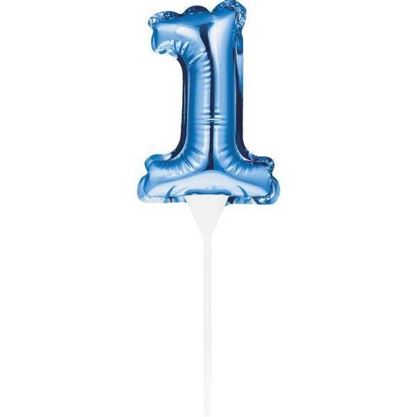 Bilde av Tallballong Kaketopper 0-9, Blå