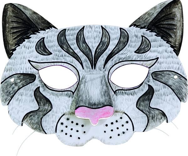Bilde av Masker For Fargelegging, Dyremotiv, 6 Ass.