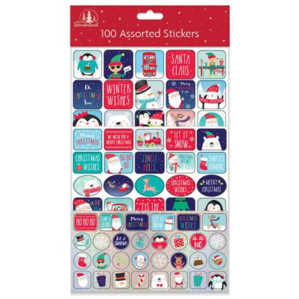 Bilde av Juleklistremerker, 100stk