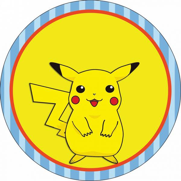 Bilde av Pikachu Kakebilde1, Sukkerpapir, 20 cm