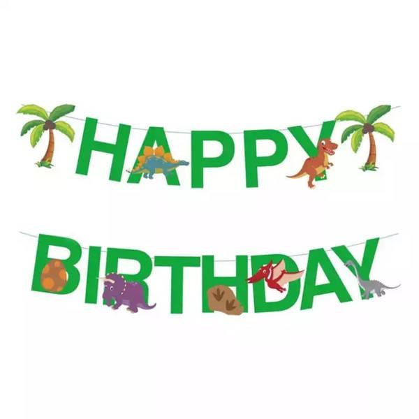 Bilde av Dino palmer, Happy Birthday banner