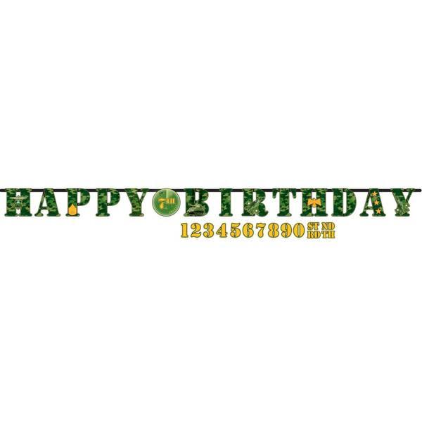 Bilde av Camouflage Happy Birthday Banner