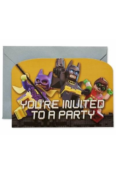 Bilde av LEGO Batman,invitasjoner, 8 stk