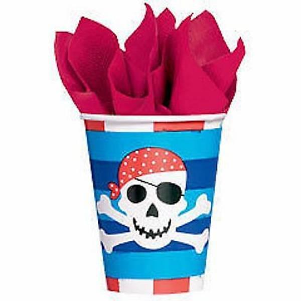 Bilde av Blå Pirat Party, Kopp, 8 stk