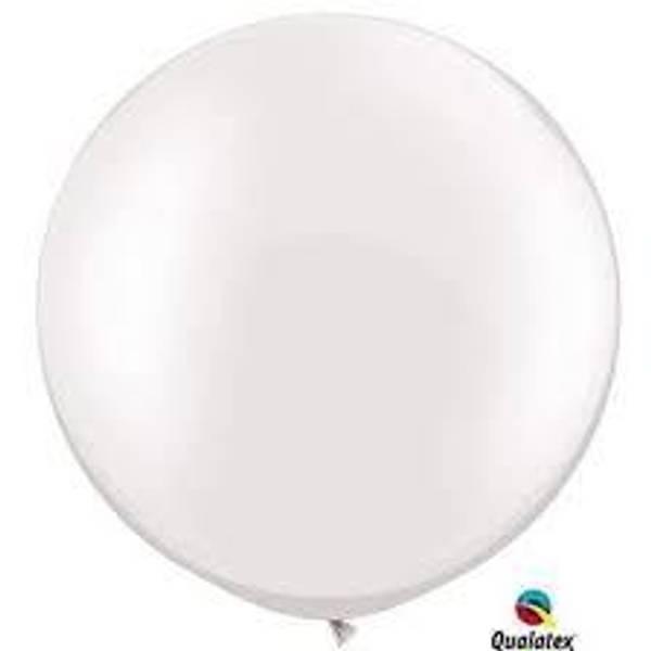 Bilde av Super Mega Hvit Ballonger 2 stk