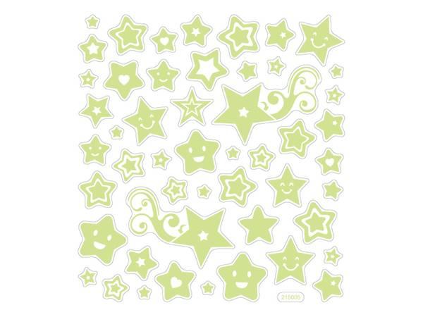 Bilde av Selvlysende Stjerne Klistermerker