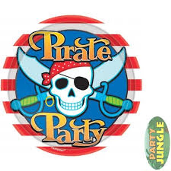 Bilde av Blå Pirat Party, Tallerken, 8 stk