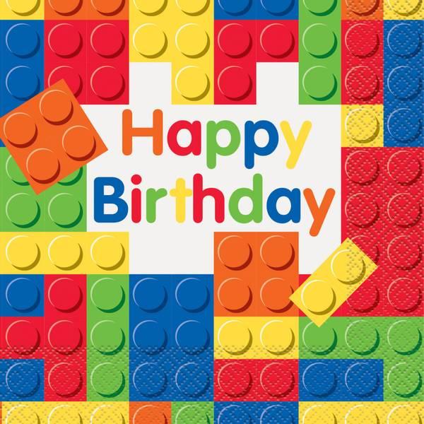 Bilde av Legoklosser servietter 16stk