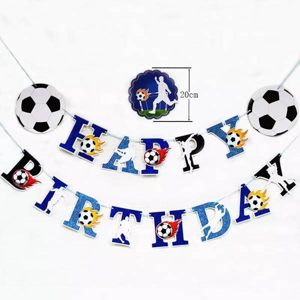 Bilde av Fotball, HappyBirthday banner