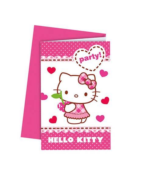 Bilde av Hello Kitty Invitasjoner 6 stk