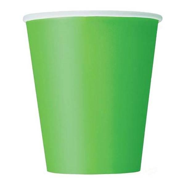 Bilde av Limegrønne Pappkopper, 8stk