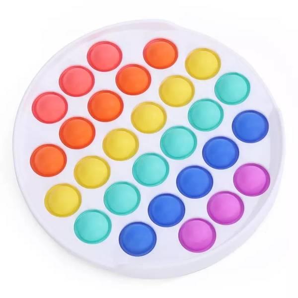 Bilde av Fidget Toy Rainbow Dimple Pop It, Rund