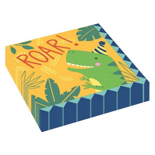Bilde av Dino-Mite, Servietter, 16 Stk