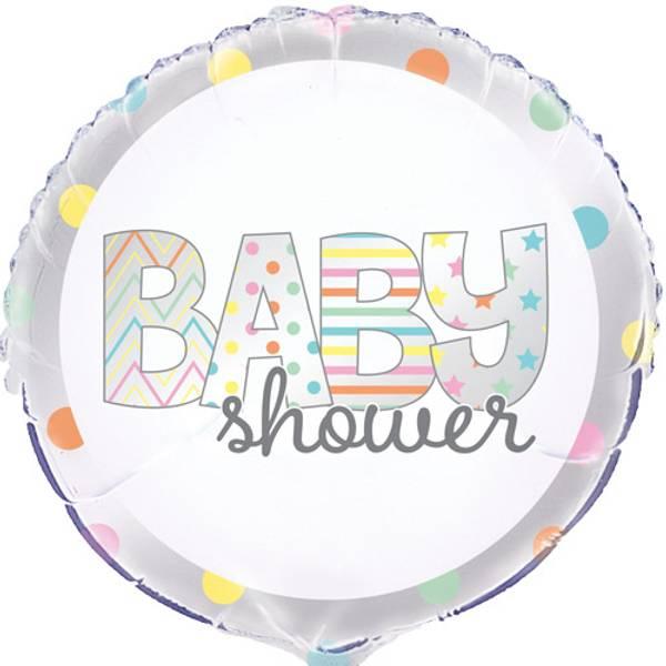 Bilde av Babyshower Folieballong, Fargerik
