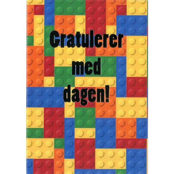 Bilde av Mini Kort, Lego Klosser, Gratulerer med dagen