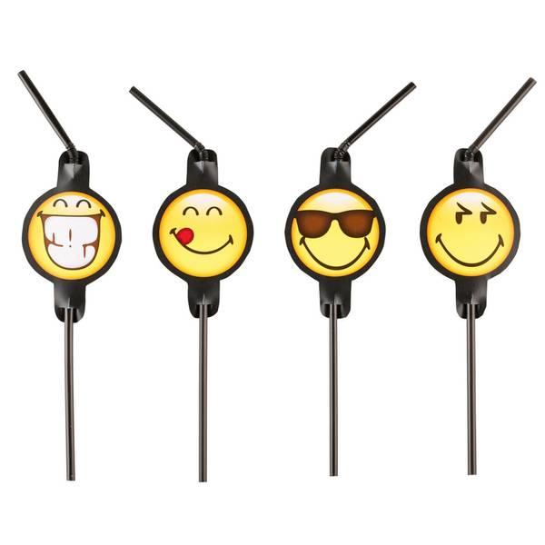 Bilde av Emoji Smiley Sugerør, 8 stk