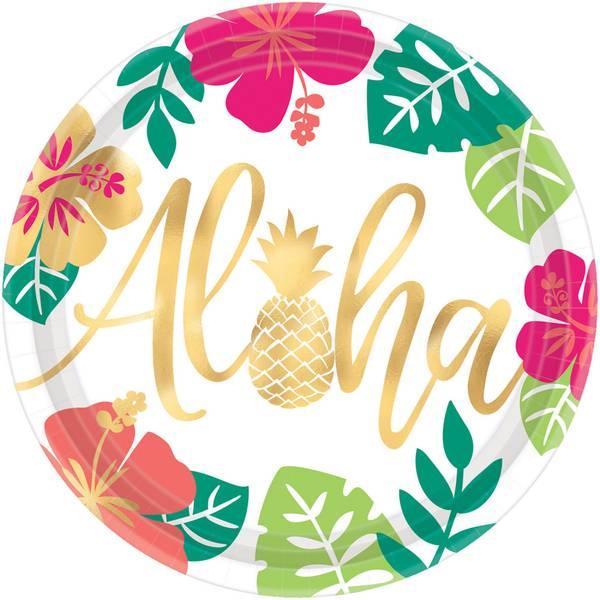 Bilde av Aloha, Tallerker 8 stk