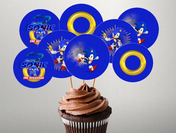 Bilde av Sonic, Toppers,2, 8 stk