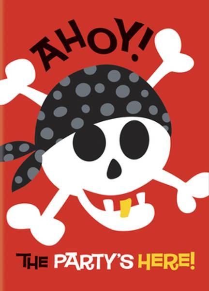 Bilde av Pirat, Invitasjoner, 8 stk