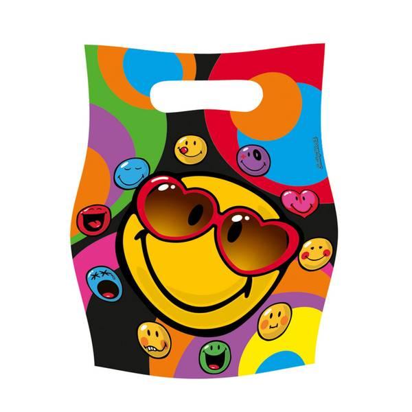 Bilde av Emoji Smiley Godteposer, 6 stk