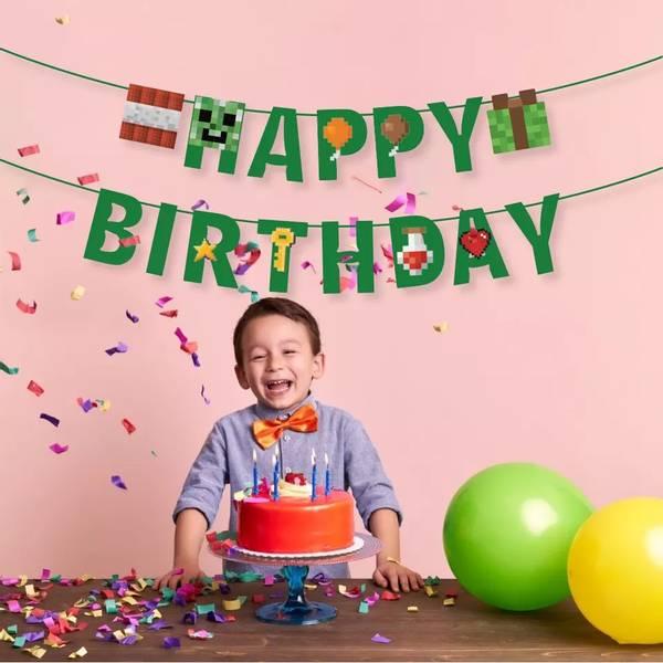 Bilde av Pixel, Happy Birthday banner