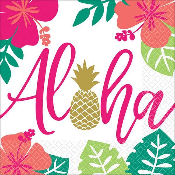 Bilde av Aloha, Servietter, 16 stk