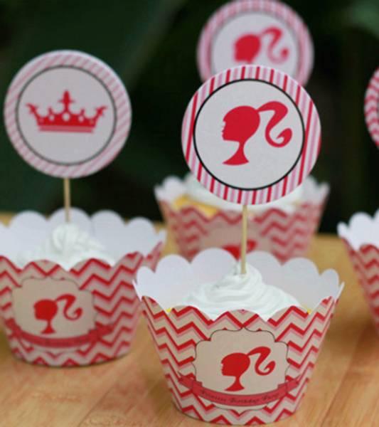 Bilde av Barbie cupcake wrapper