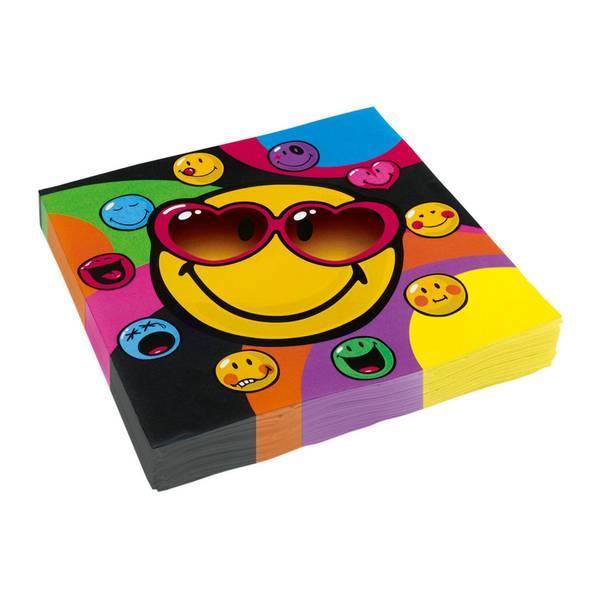 Bilde av Emoji Smiley Servietter, 20 stk