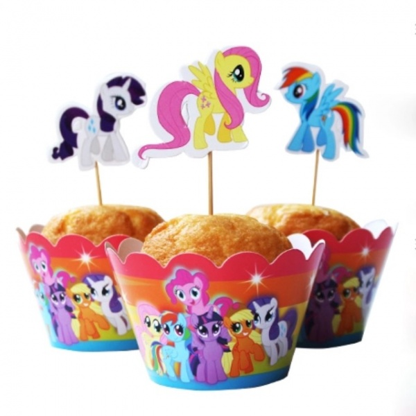 Bilde av My little Pony Cupcake Wrappers, 12 stk