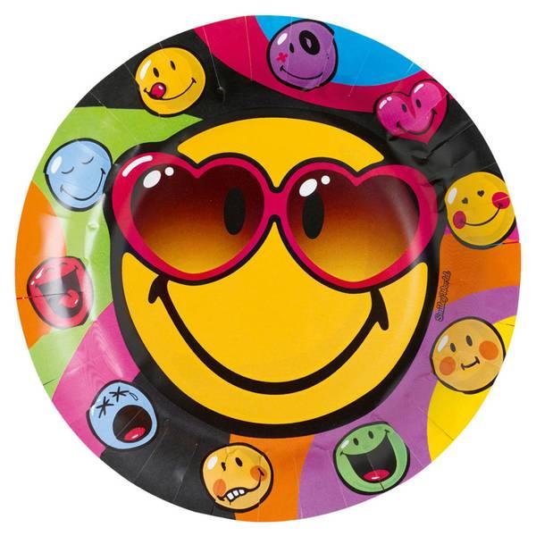 Bilde av Emoji Smiley Tallerker, 8 stk