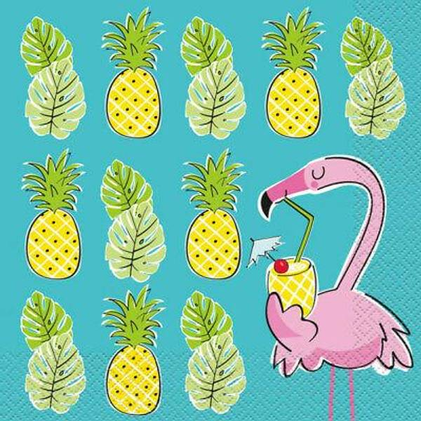 Bilde av Annanas Flamingo, Servietter 20 stk
