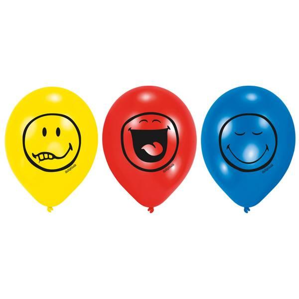 Bilde av Emoji Smiley Ballonger 2, 6 stk