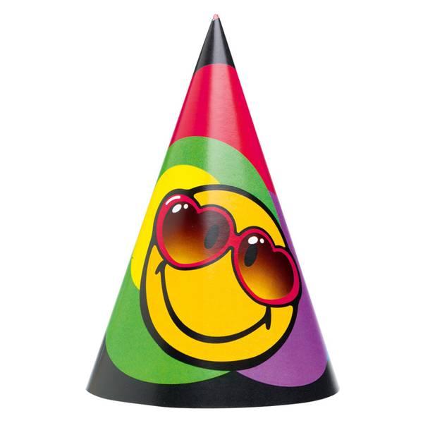 Bilde av Emoji Smiley Partyhatter, 6 stk