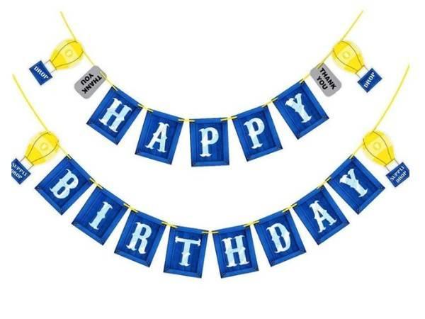 Bilde av Drop, Happy Birthdaybanner
