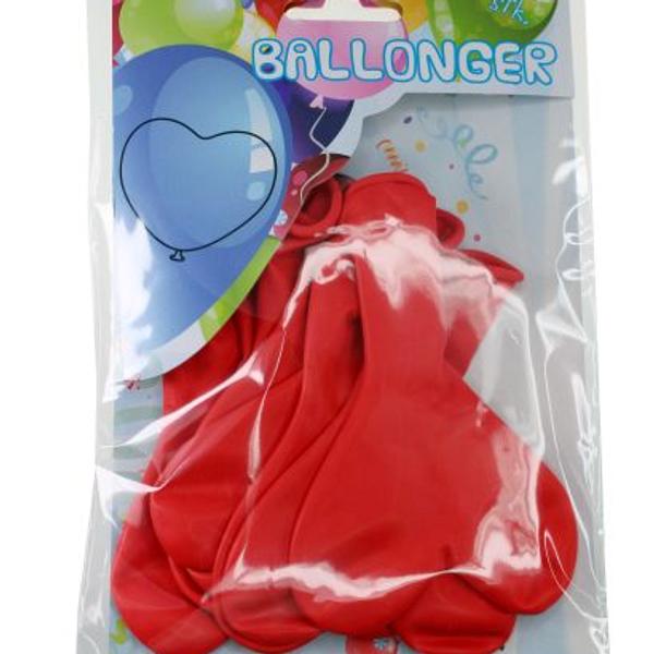 Bilde av Røde Ballonghjerter, 8 stk
