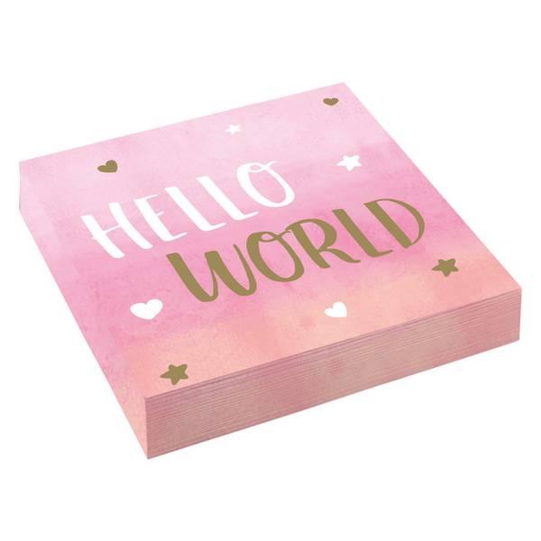Bilde av Hello world Girl, Servietter, 16 Stk