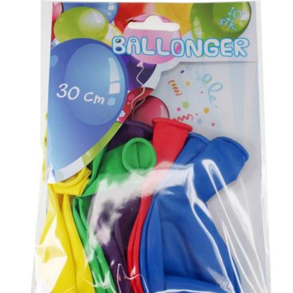 Bilde av Ballonger Ass Farger 30 cm, 10 stk