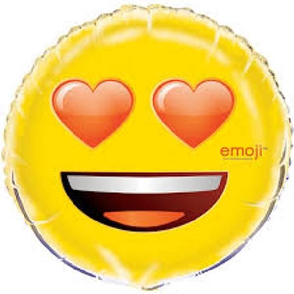 Bilde av Hjerte Øyne Emoji Folieballong 46cm