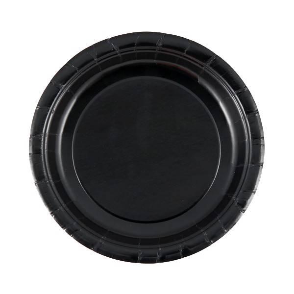 Bilde av Svarte Asjetter, 20 stk, 17cm