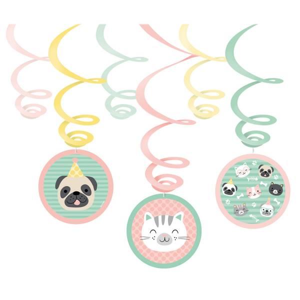 Bilde av Katt og Hund, Swirl Dekorasjoner