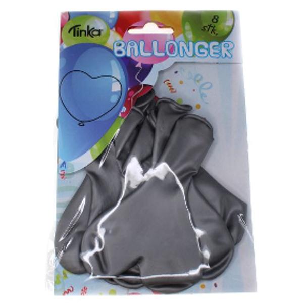 Bilde av Sølv Ballonghjerter, 8 stk