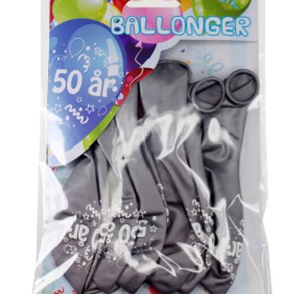 Bilde av Sølv Ballonger, 50 år, 8 stk