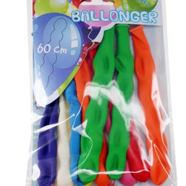 Bilde av Lange ballonger, Hele 60 cm, 10 stk