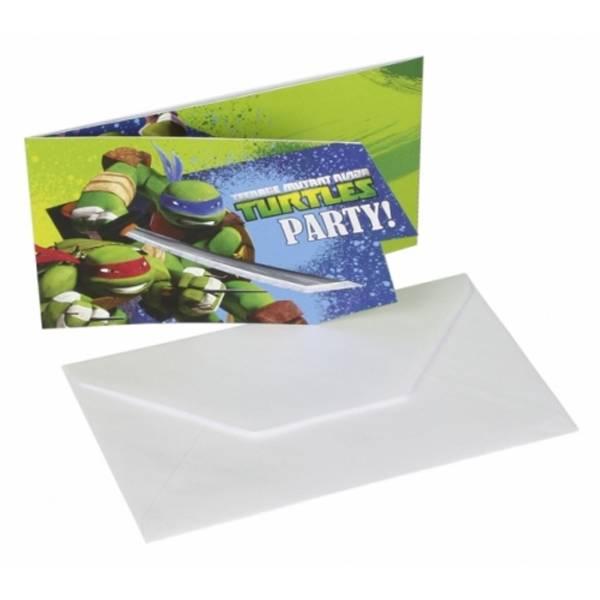 Bilde av Ninja Turtles, Invitasjoner, 8 stk